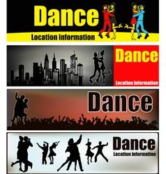 ballroom dance banners vector image vector image
