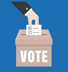business hand vote for election vector image