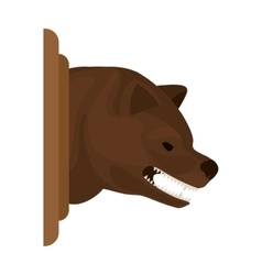 Color image with decorative bear head growling vector