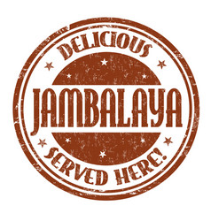 delicious jambalaya sign or stamp vector image