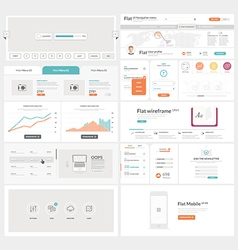 Flat UI element kit for Business templates vector image vector image
