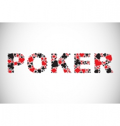poker abstract background vector image vector image