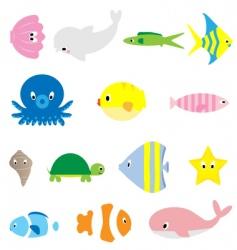under water sea life vector image