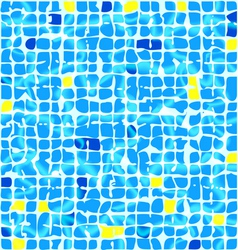 blue ceramic tiles vector image vector image