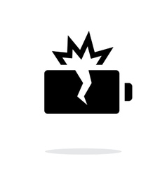 Explosion battery simple icon on white background vector image