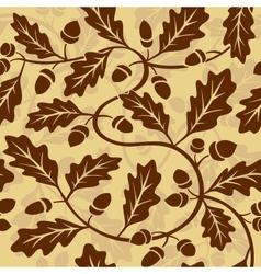 oak leaf acorn seamless background vector image vector image