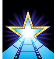 road to Hollywood vector image vector image