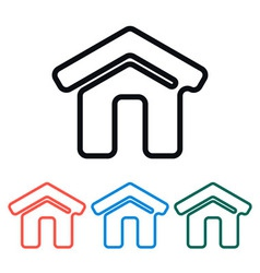 Simple Home Icon vector image vector image