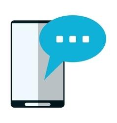 Smartphone bubble speech conversation vector