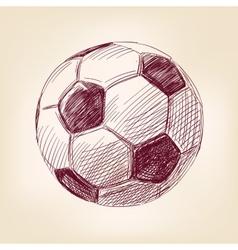 soccer ball hand drawn llustration realistic vector image vector image