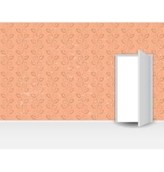 Vintage Pattern Wall door vector image