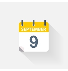 9 september calendar icon vector image