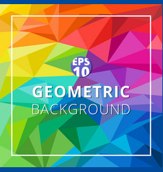 abstract geometric low polygon colorful vector image