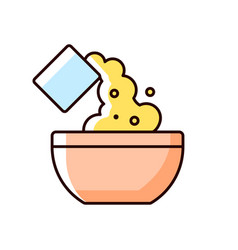 Add cooking ingredient rgb color icon vector