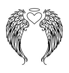 Angel heart vector