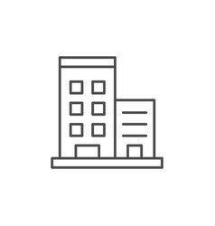 Apartment house line outline icon vector