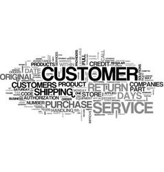 Att customer service text word cloud concept vector