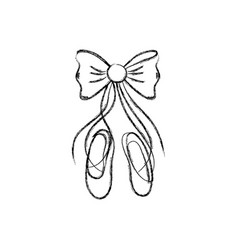 ballet shoes design vector image