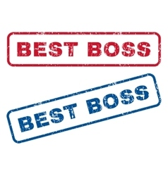 Best Boss Rubber Stamps vector