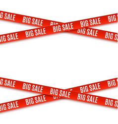 Big sale red banners ribbons isolated on white vector