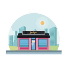 Boutique shop store vector