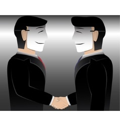 Business man wearing mask vector