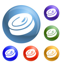 candy swirl icons set vector image