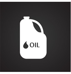 Car lubricant on black background vector