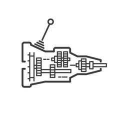 car transmission icon - gearshift symbol for car vector image