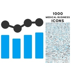 Charts Icon with 1000 Medical Business Icons vector
