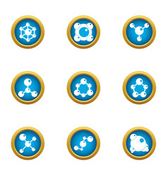 Chemical agent icons set flat style vector