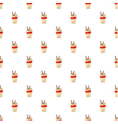 chinese fast food pattern seamless vector image