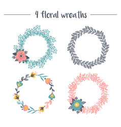 collection of wreaths vector image