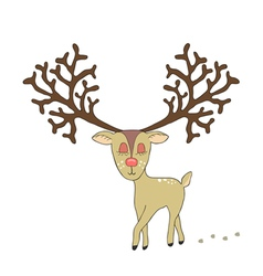 Cute deer hand drawn vector