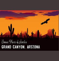 drawing panama grand canyon vector image