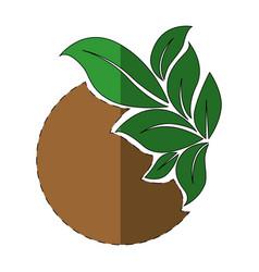ecology stamp emblem vector image
