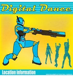 electric dancing vector image