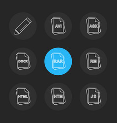 file type files documents eps icons set vector image