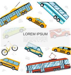 flat city public transport template vector image