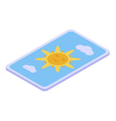 Fortune teller card icon isometric style vector