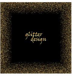 Gold glitter texture on a black background golden vector
