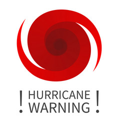 graphic banner of hurricane warning vector image