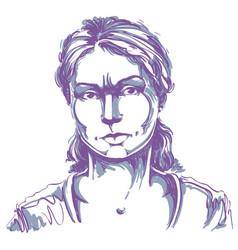 Graphic hand-drawn of white skin vector