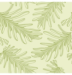 Green palm trees seamless pattern background with vector image
