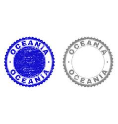 Grunge oceania textured watermarks vector