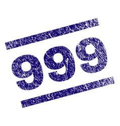 grunge textured 999 stamp seal vector image
