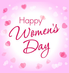 happy womens day heart card vector image