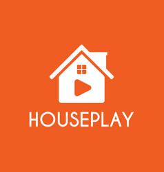 home play studio logo design template white color vector image