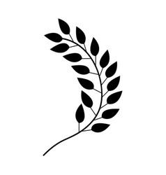 Leafs plant wreath icon vector