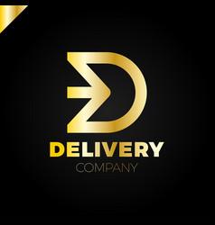 letter d logotype arrow letter d icon design vector image